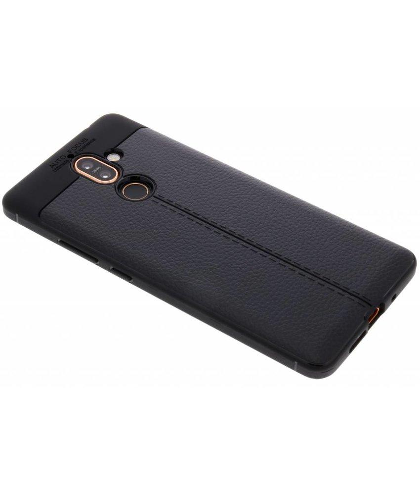 Lederen Backcover met stiksel Nokia 7 Plus