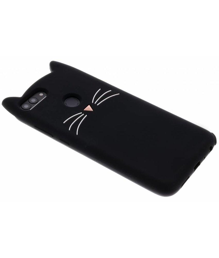 Zwart Kat TPU hoesje Huawei P Smart