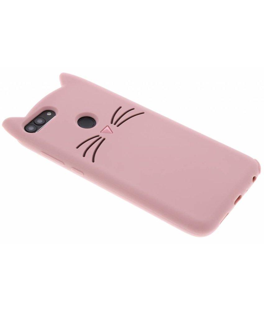 Roze Kat TPU hoesje Huawei P Smart