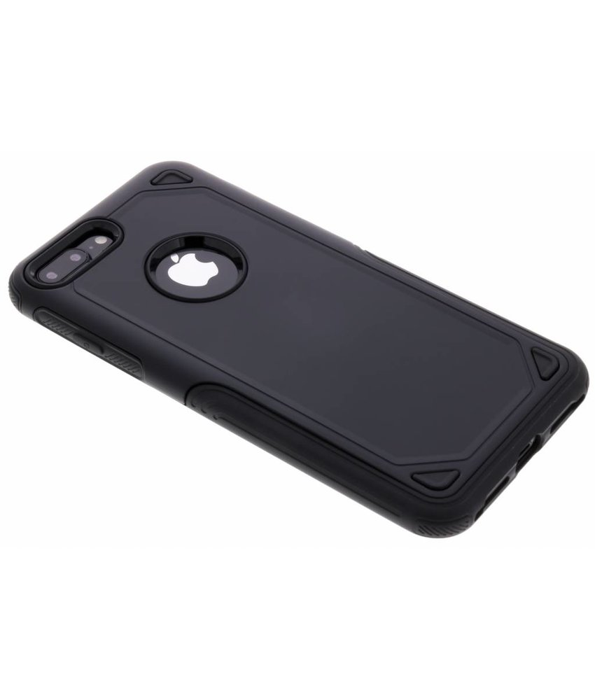 Zwart Rugged hardcase hoesje iPhone 8 Plus / 7 Plus