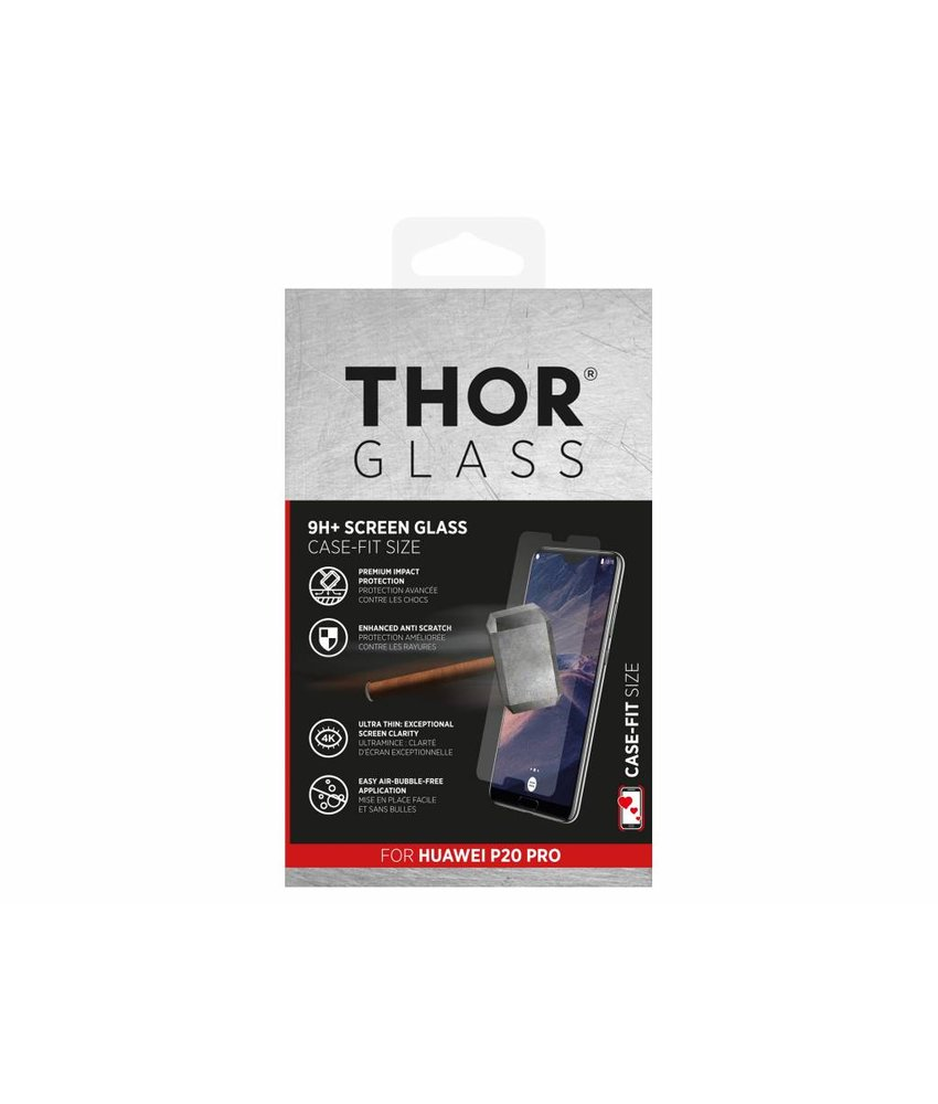 THOR 9H+ Case-Fit Glass Screen Protector Huawei P20 Pro