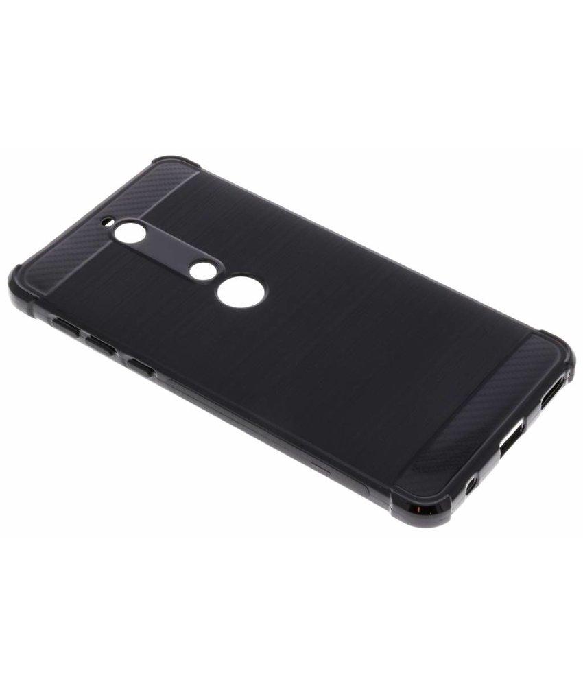 Zwart Xtreme siliconen hoesje Nokia 6.1