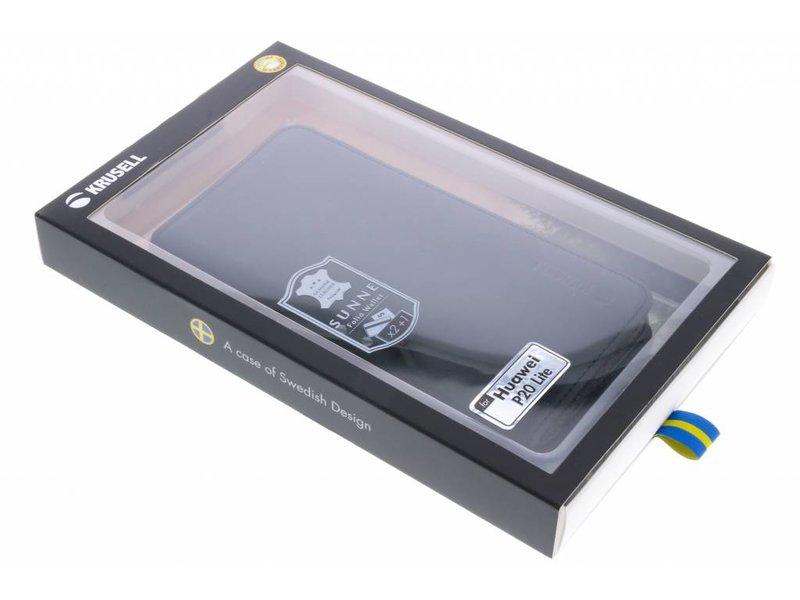 Huawei P20 Lite hoesje - Krusell Zwarte Sunne Folio