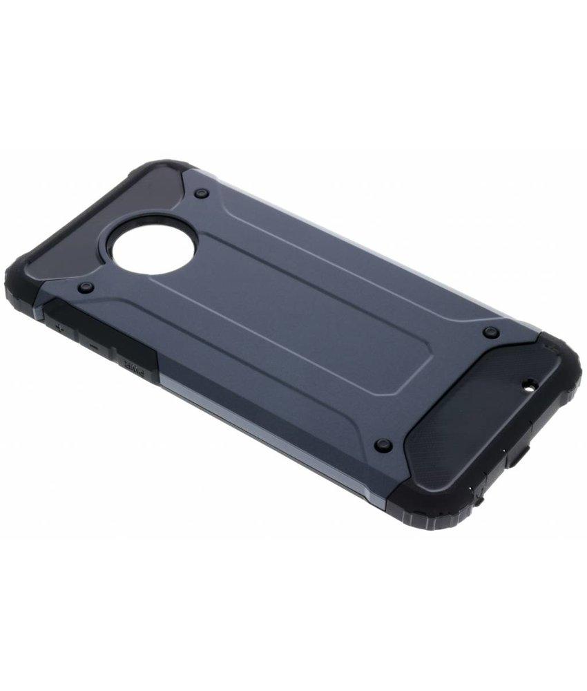 Donkerblauw Rugged Xtreme Case Motorola Moto G6 Plus