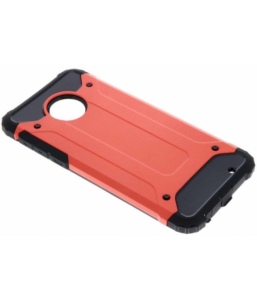 Rood Rugged Xtreme Case Motorola Moto G6 Plus