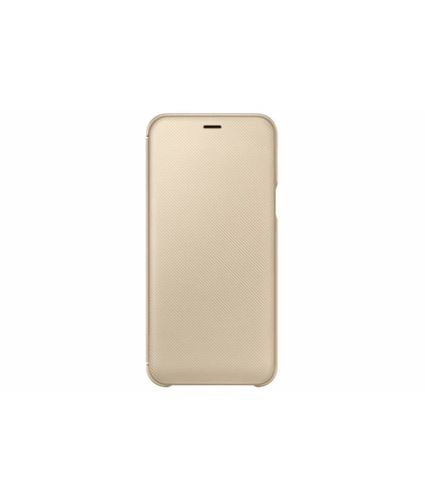 Samsung Goud Wallet Cover Galaxy A6 (2018)