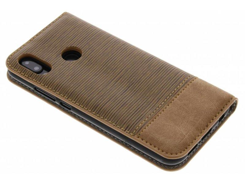 Huawei P20 Lite hoesje - Bruine Denim TPU booktype