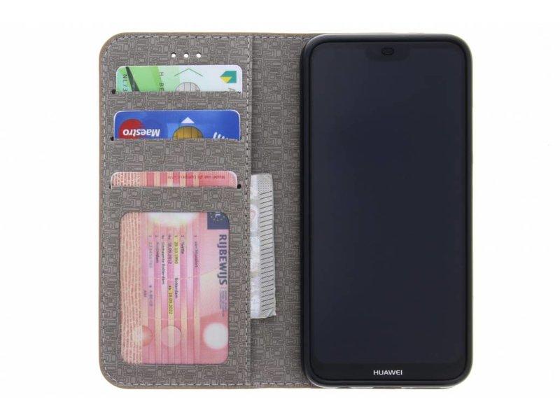 Huawei P20 Lite hoesje - Donkerblauwe Denim TPU booktype