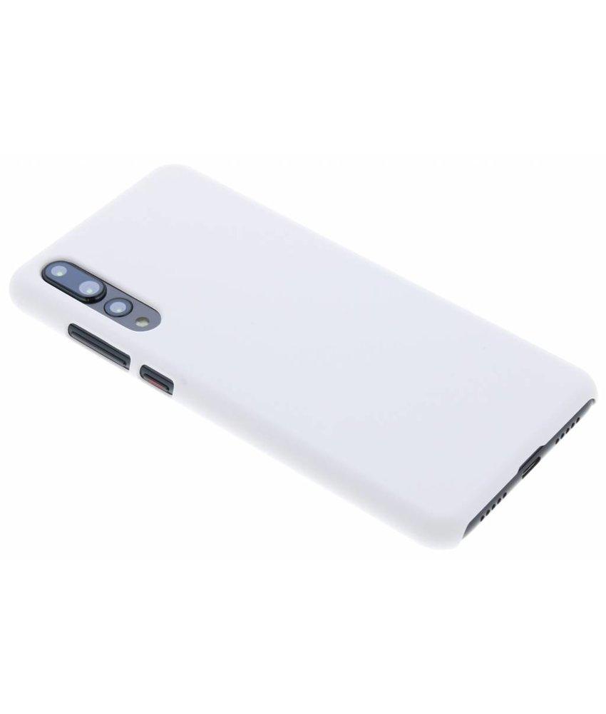 Wit effen hardcase hoesje Huawei P20 Pro