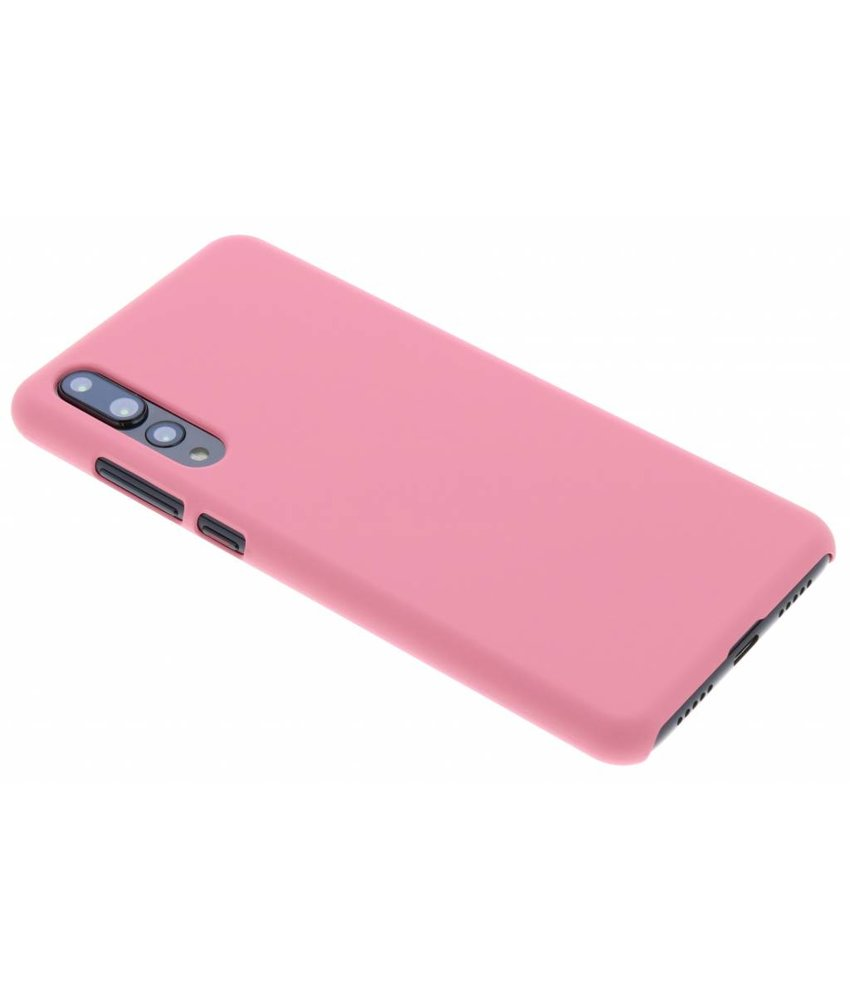 Roze effen hardcase hoesje Huawei P20 Pro