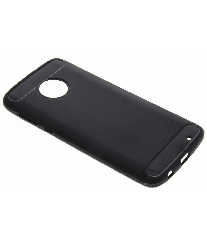 Zwart Brushed TPU case Motorola Moto G6 Plus
