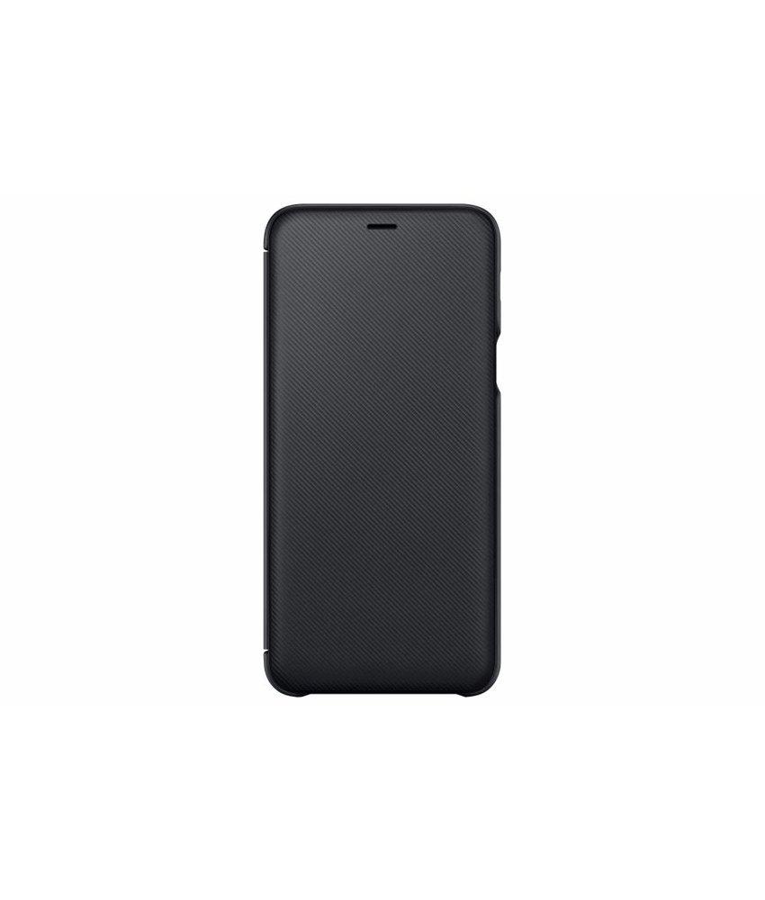 Samsung Zwart Wallet Cover Galaxy A6 Plus (2018)