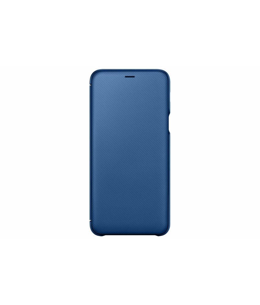 Samsung Blauw Wallet Cover Galaxy A6 Plus (2018)