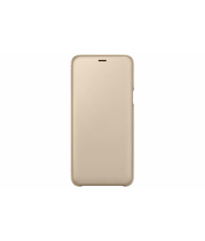 Samsung Goud Wallet Cover Galaxy A6 Plus (2018)