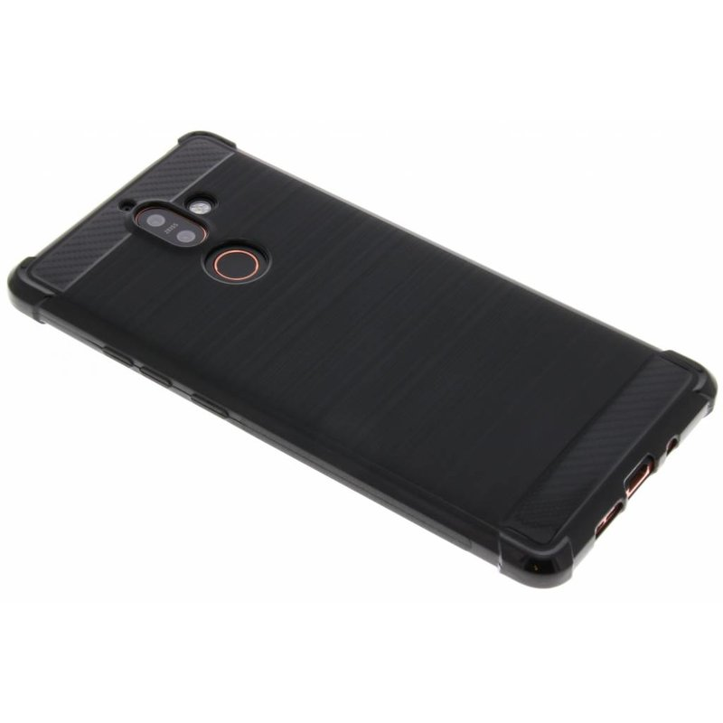 Zwart Xtreme siliconen hoesje Nokia 7 Plus