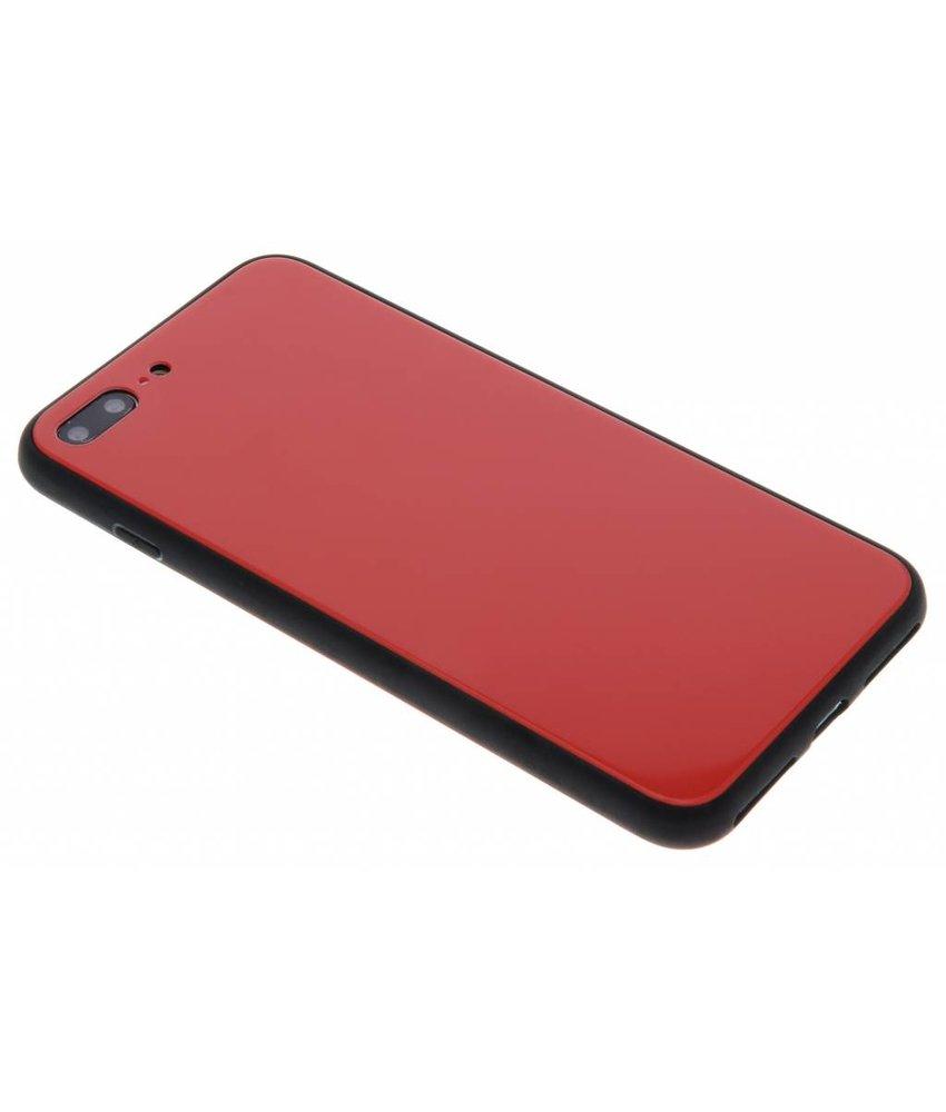 Rood Glazen hardcase hoesje iPhone 8 Plus / 7 Plus