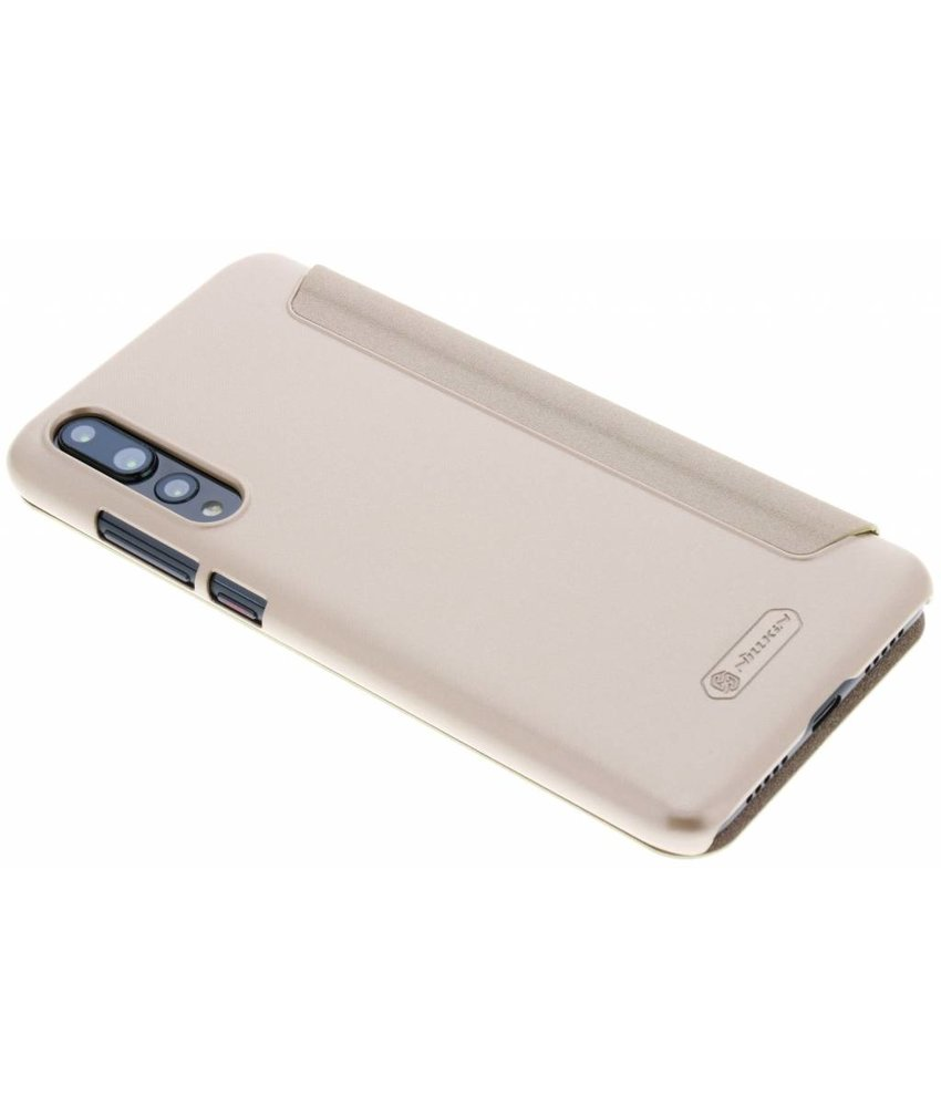 Nillkin Goud Sparkle slim booktype hoes Huawei P20 Pro