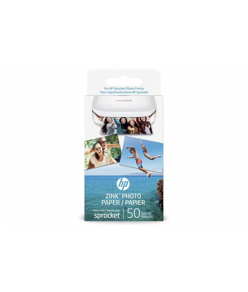 HP Zink® Photo Paper Sprocket - 50 Sheets