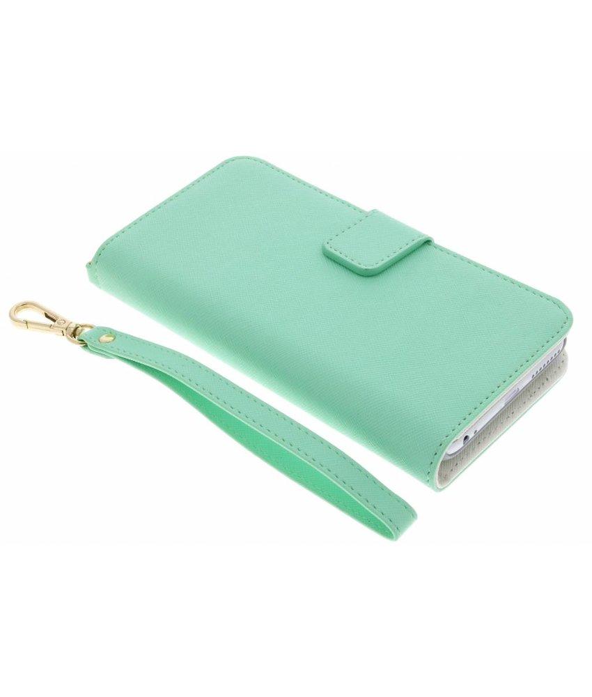 Selencia Mintgroen Wallet Case iPhone 8 Plus / 7 Plus