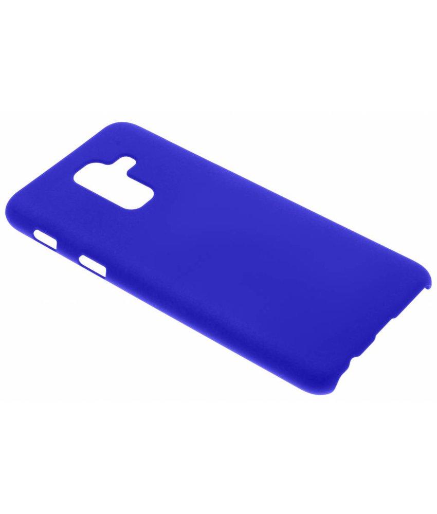 Blauw effen hardcase hoesje Samsung Galaxy A6 Plus (2018)