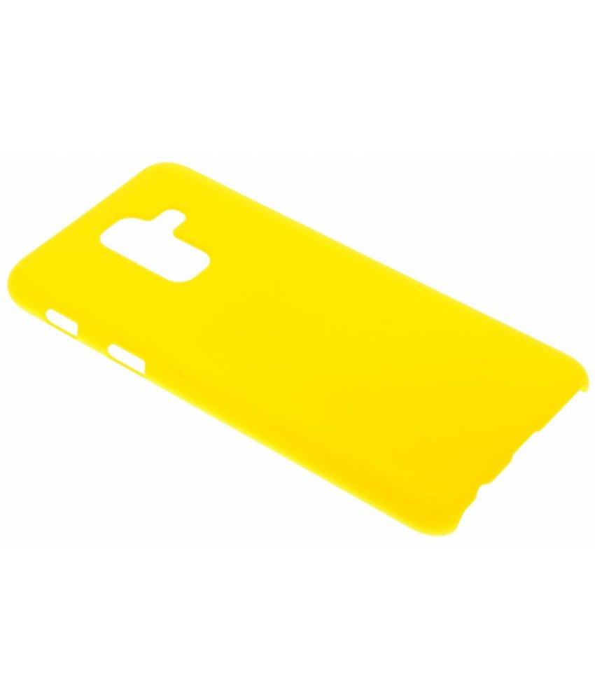 Geel effen hardcase hoesje Samsung Galaxy A6 Plus (2018)