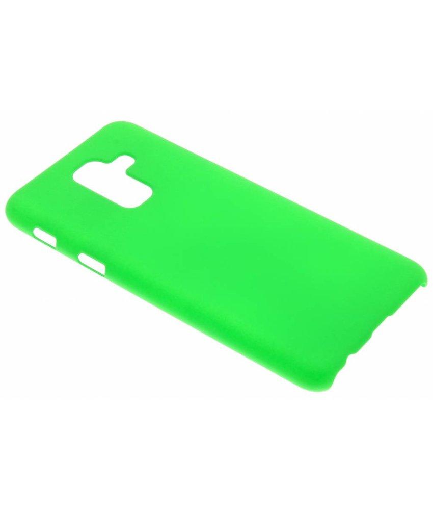 Groen effen hardcase hoesje Samsung Galaxy A6 Plus (2018)