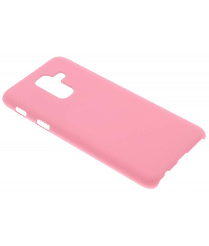 Roze effen hardcase hoesje Samsung Galaxy A6 Plus (2018)