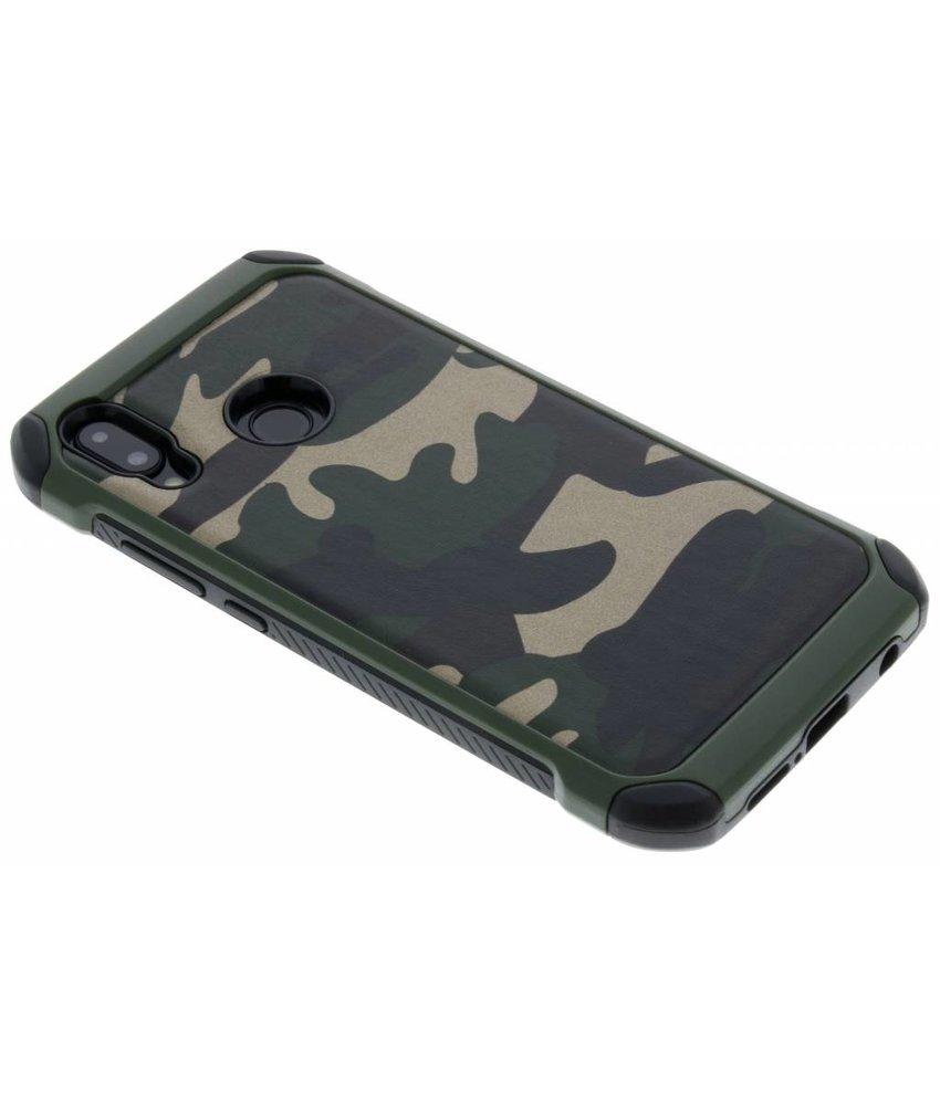 Groen army defender hardcase hoesje Huawei P20 Lite