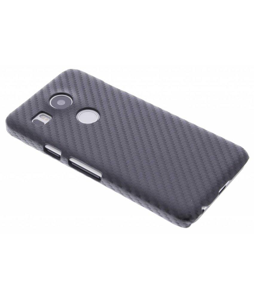 Zwart Carbon look hardcase hoesje LG Nexus 5