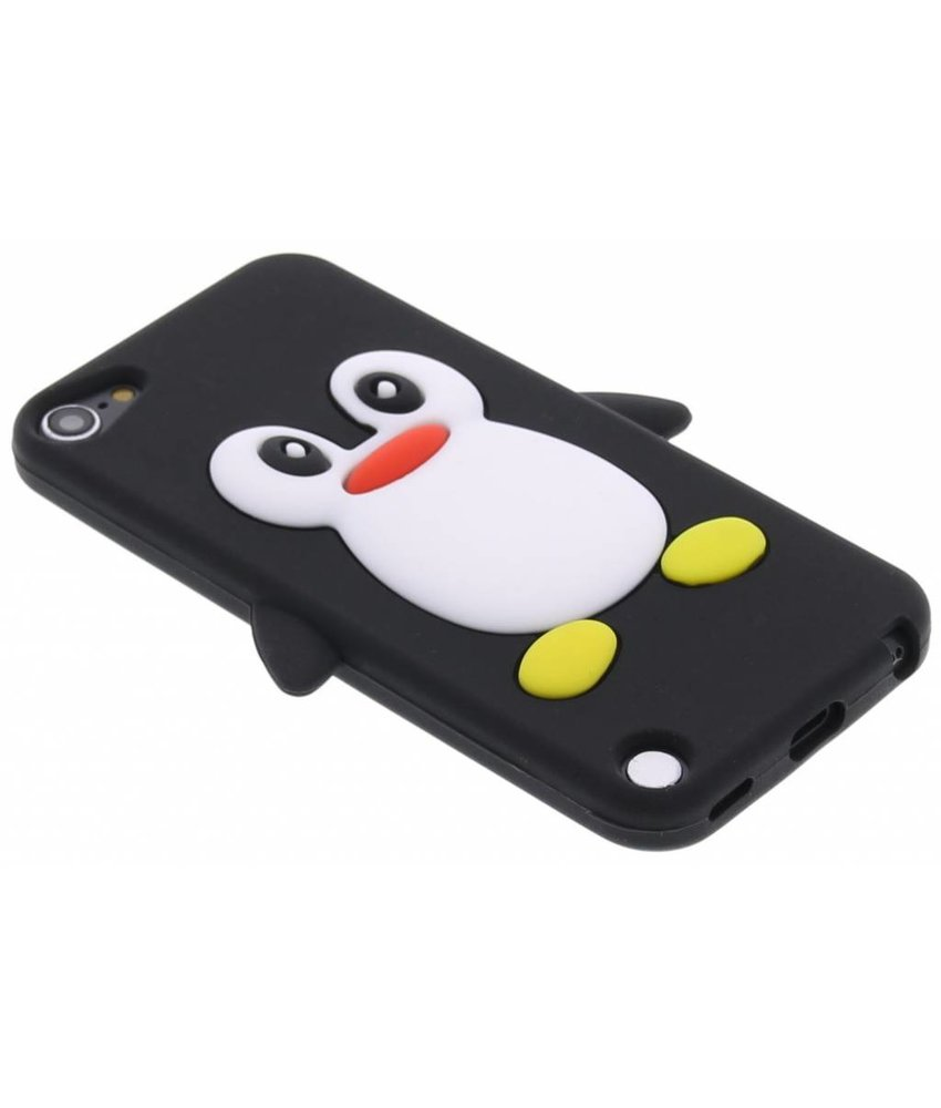 Zwart pinguin siliconen hoesje iPod Touch 5g / 6