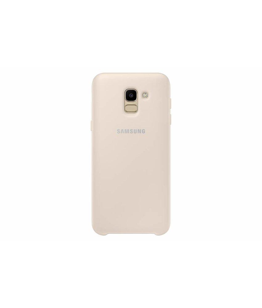Samsung Goud Dual Layer Cover Galaxy J6