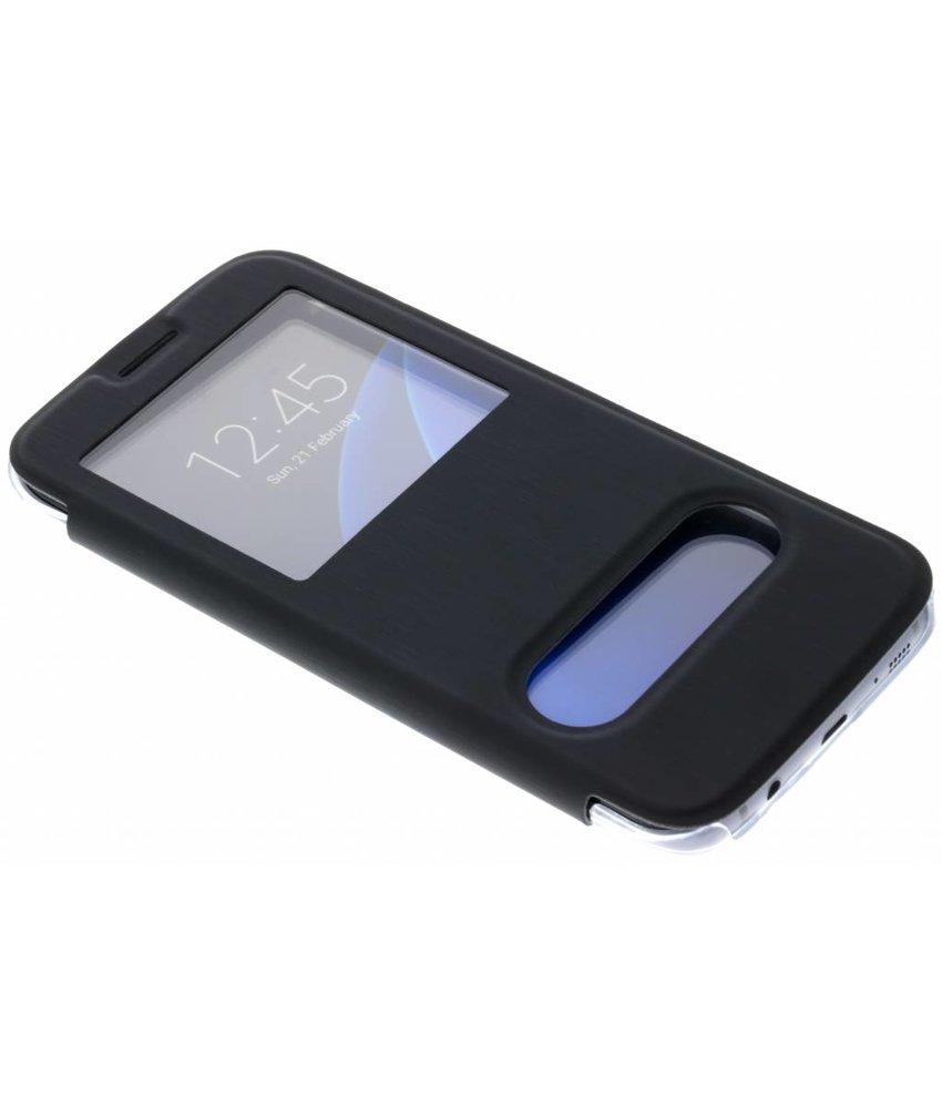 Be Hello Zwart Window View Case Samsung Galaxy S7 Edge