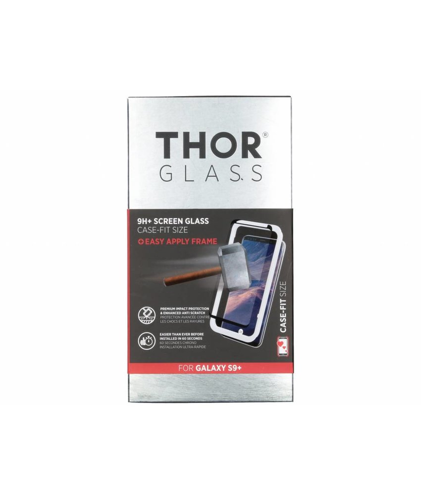 THOR 9H+ Case-Fit Glass Screen Protector Samsung Galaxy S9 Plus