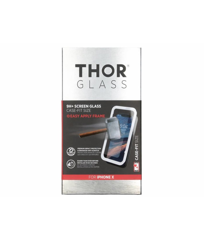 THOR Case-Fit Screenprotector + Easy Apply Frame iPhone X / Xs