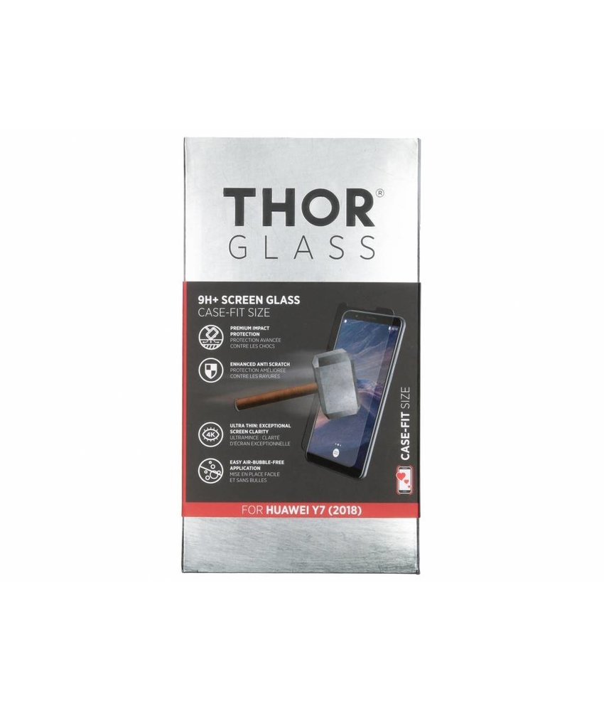 THOR 9H+ Case-Fit Glass Screen Protector Huawei Y7 (2018)