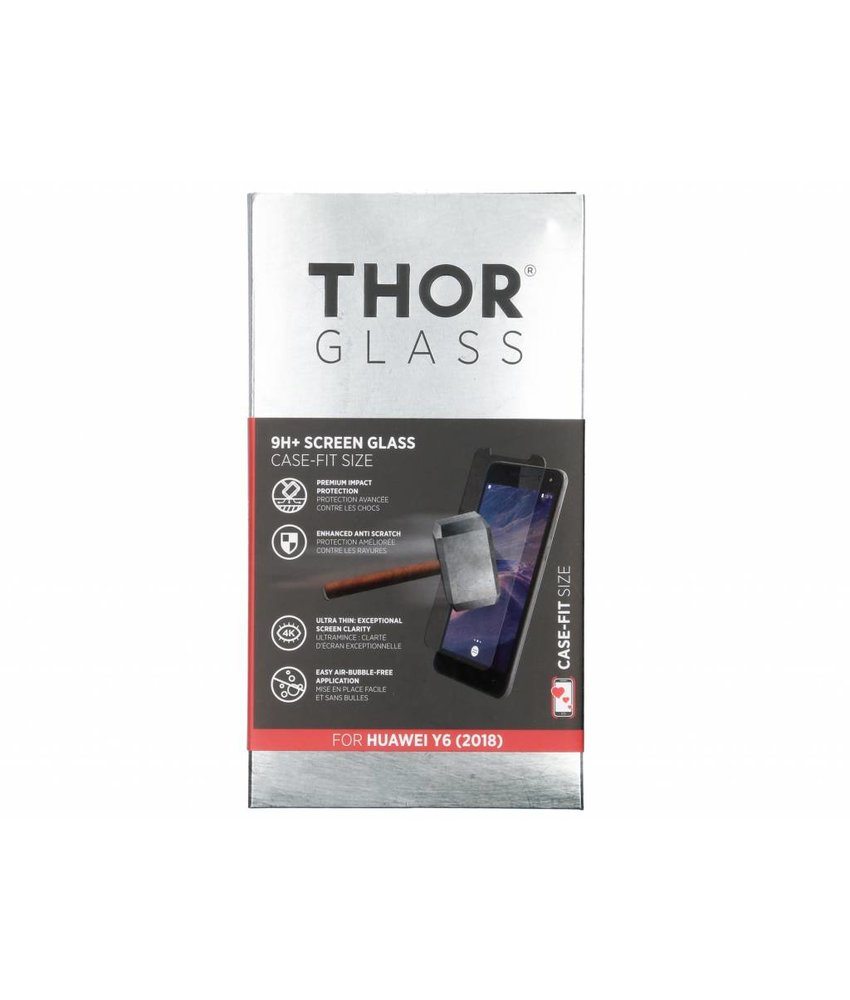 THOR 9H+ Case-Fit Glass Screen Protector Huawei Y6 (2018)