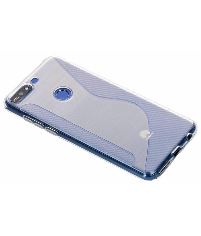 Transparant S-line TPU hoesje Huawei Y7 (2018)
