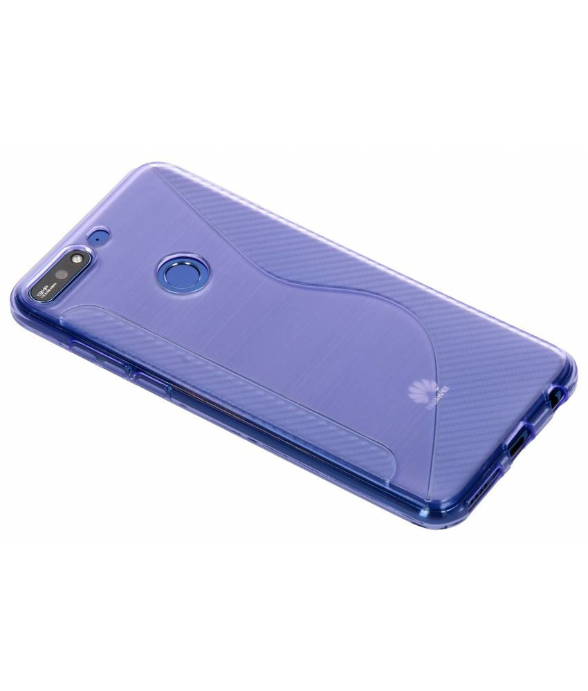 Paars S-line TPU hoesje Huawei Y7 (2018)