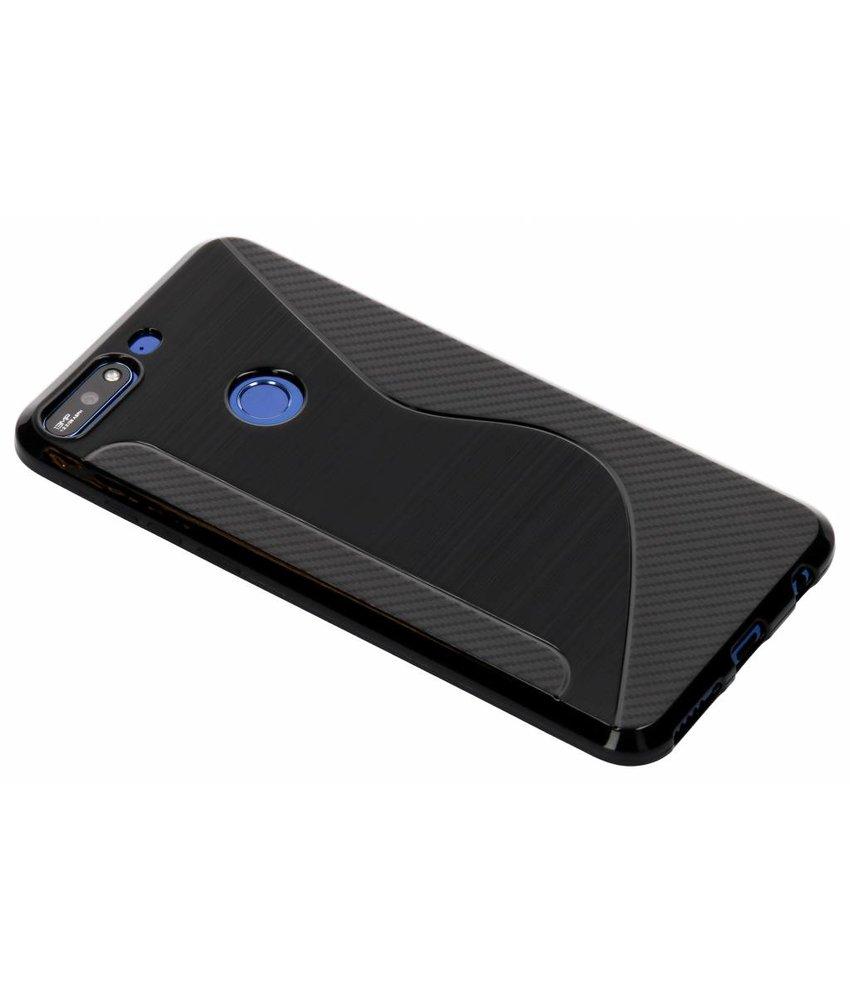 Zwart S-line TPU hoesje Huawei Y7 (2018)