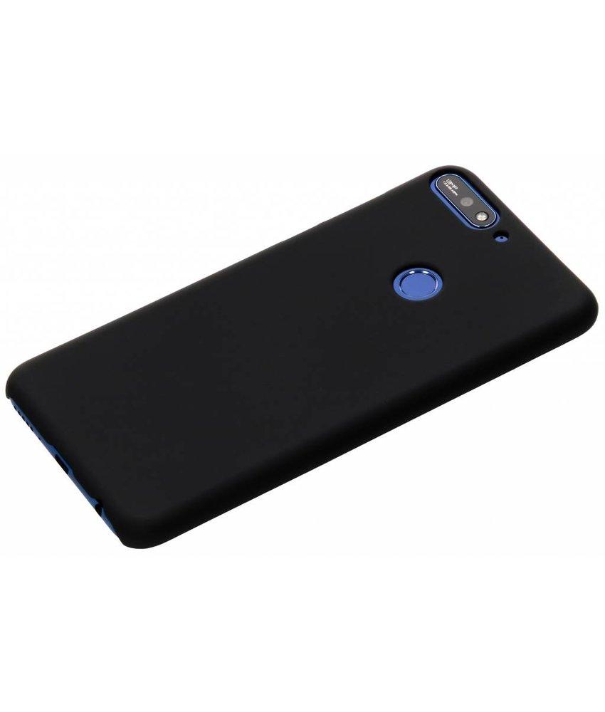 Zwart effen hardcase hoesje Huawei Y7 (2018)