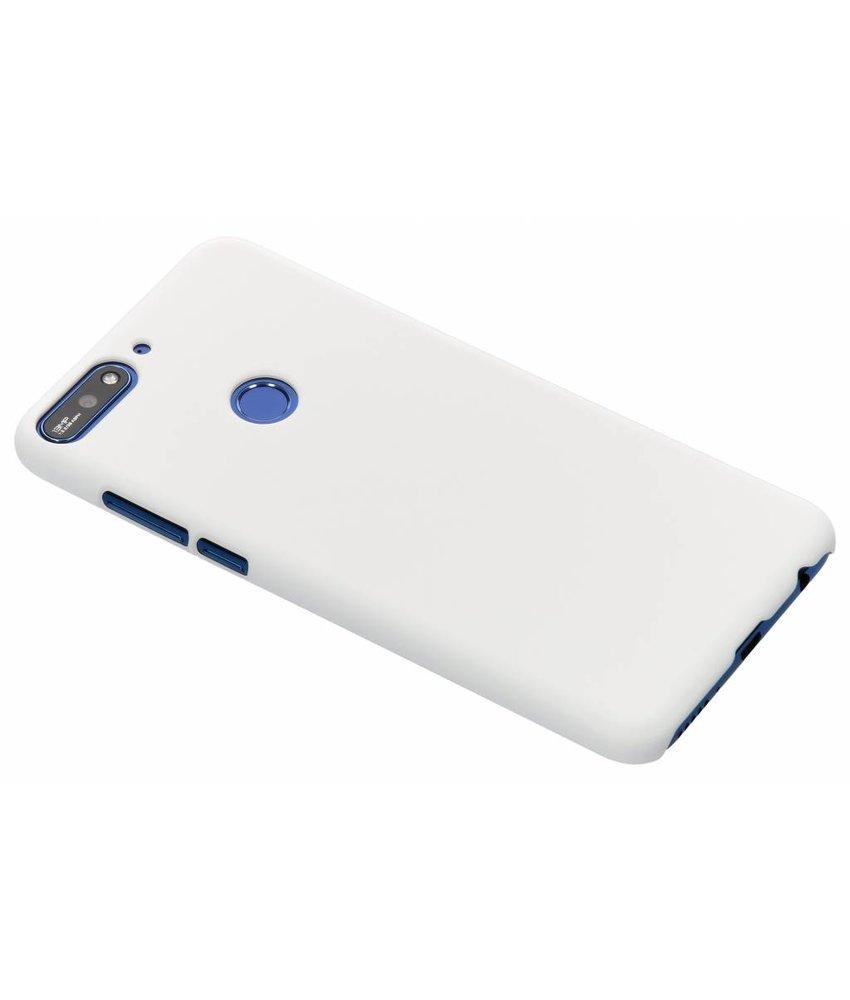 Wit effen hardcase hoesje Huawei Y7 (2018)