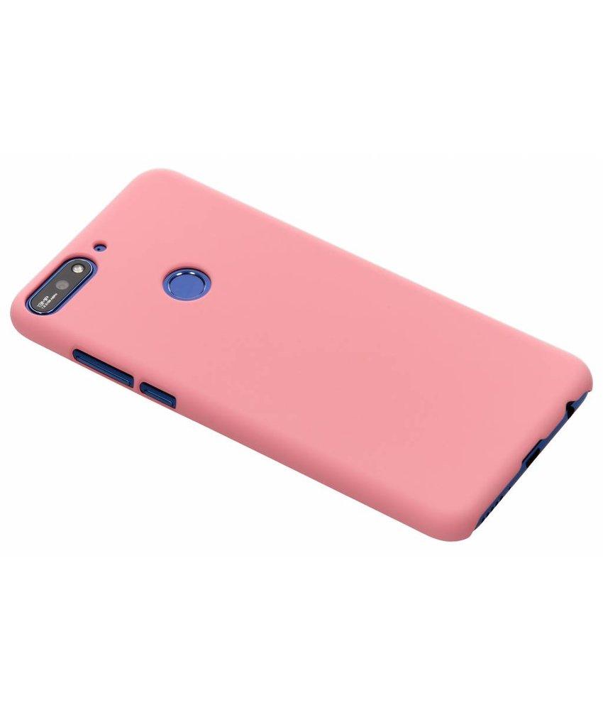 Roze effen hardcase hoesje Huawei Y7 (2018)