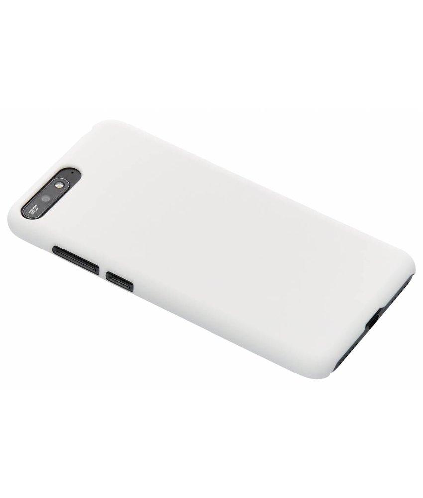 Wit effen hardcase hoesje Huawei Y6 (2018)