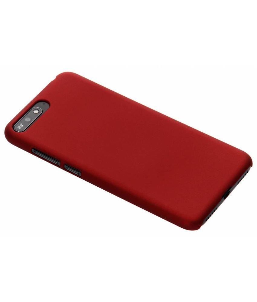 Rood effen hardcase hoesje Huawei Y6 (2018)