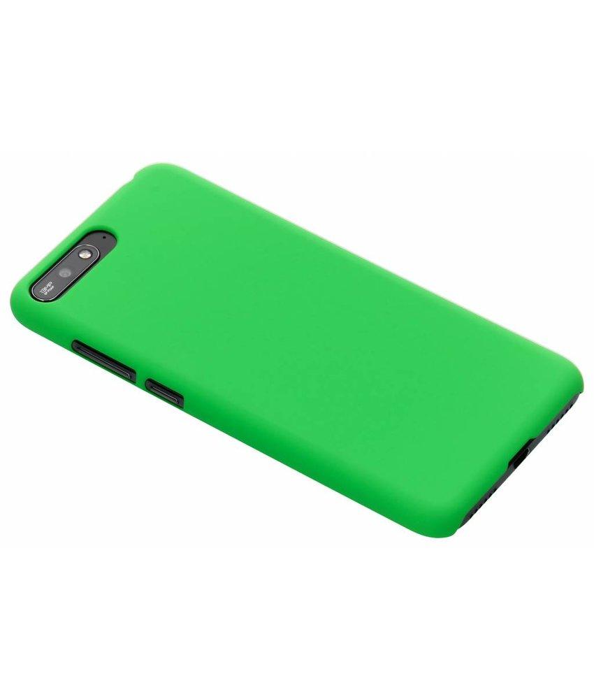 Groen effen hardcase hoesje Huawei Y6 (2018)