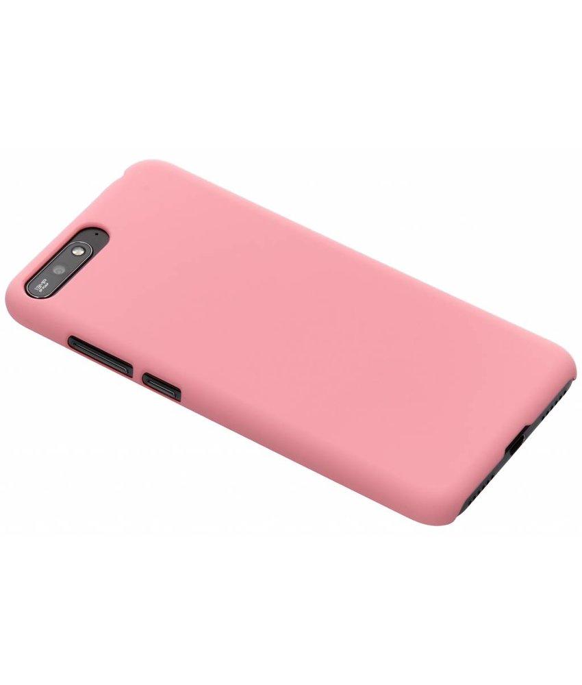 Roze effen hardcase hoesje Huawei Y6 (2018)