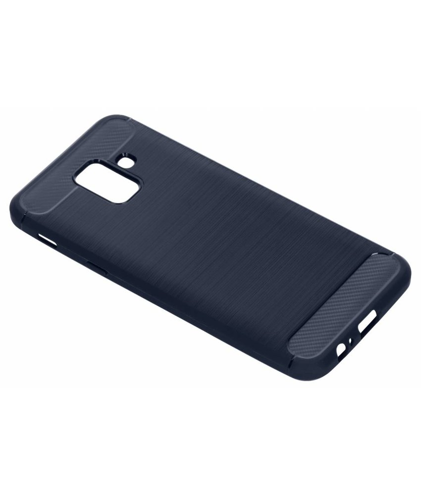 Donkerblauw Brushed TPU case Samsung Galaxy A6 (2018)
