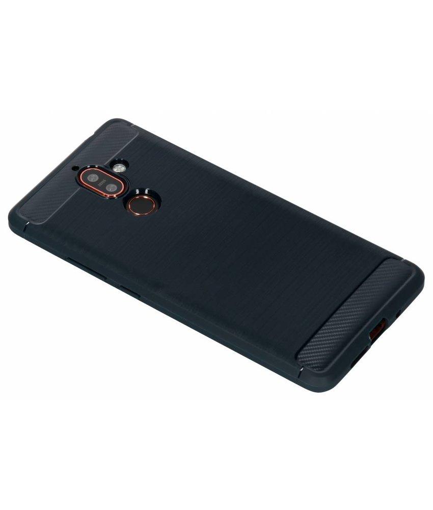 Donkerblauw Brushed TPU case Nokia 7 Plus