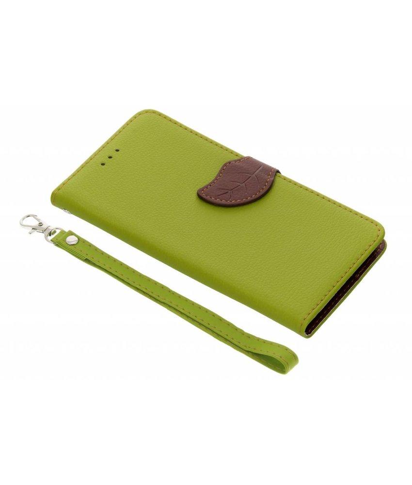 Blad design TPU booktype hoes Samsung Galaxy A6 Plus (2018)