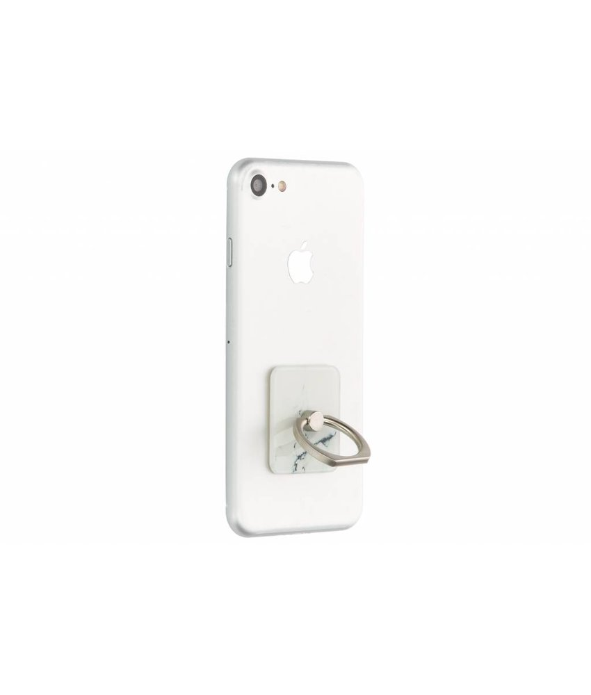 Wit marmer phone ring stand